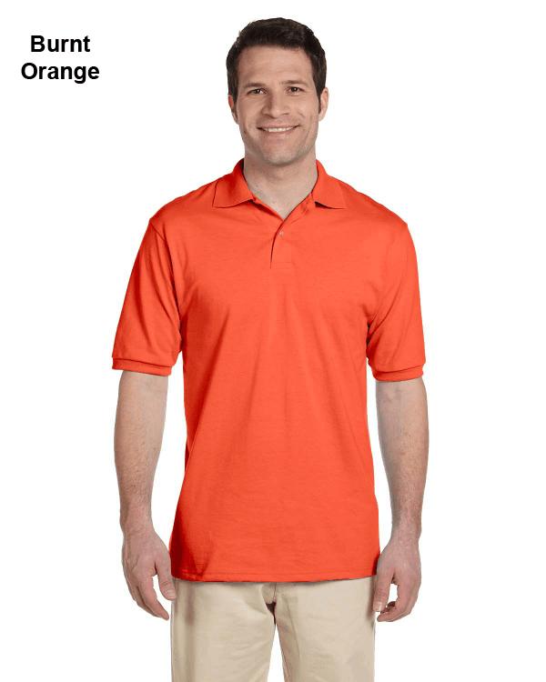 Jerzees Adult 5.6 oz. SpotShield Jersey Polo Shirt Burnt Orange