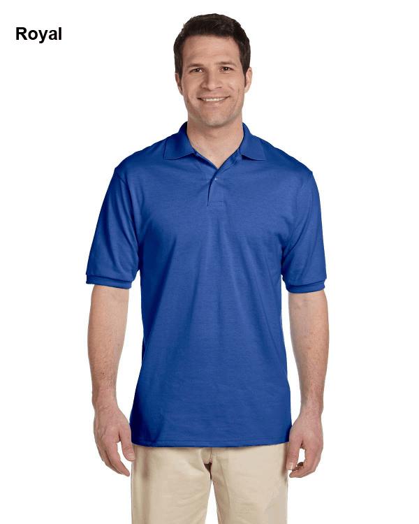 Jerzees Adult 5.6 oz. SpotShield Jersey Polo Shirt Royal