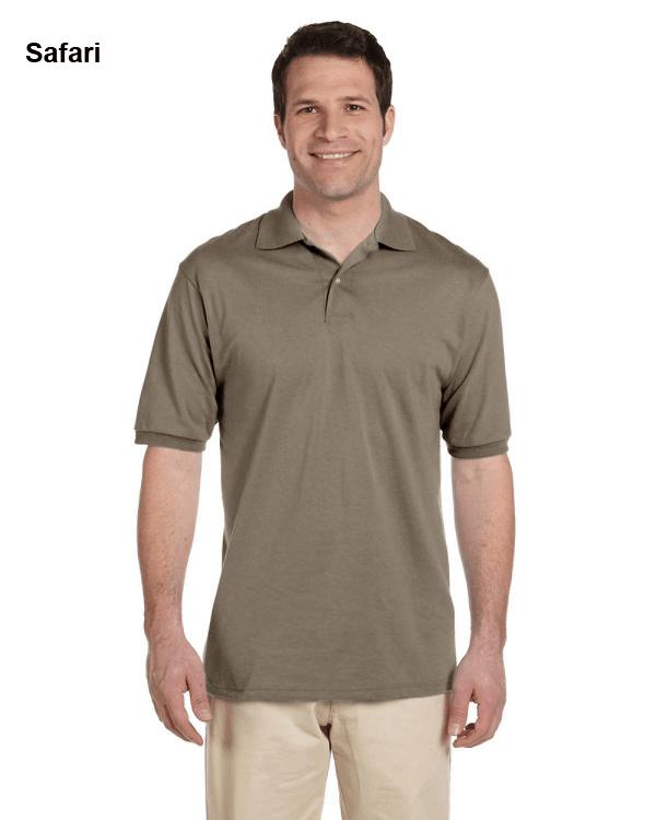 Jerzees Adult 5.6 oz. SpotShield Jersey Polo Shirt Safari