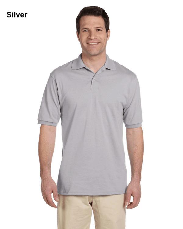 Jerzees Adult 5.6 oz. SpotShield Jersey Polo Shirt Silver