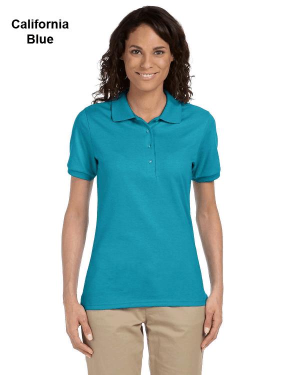 Jerzees Ladies 5.6 oz. SpotShield Jersey Polo Shirt California Blue