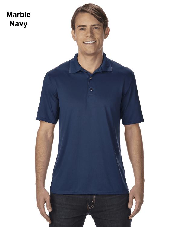 Gildan Adult Performance® 4.7 oz. Jersey Polo Shirt Marble Navy
