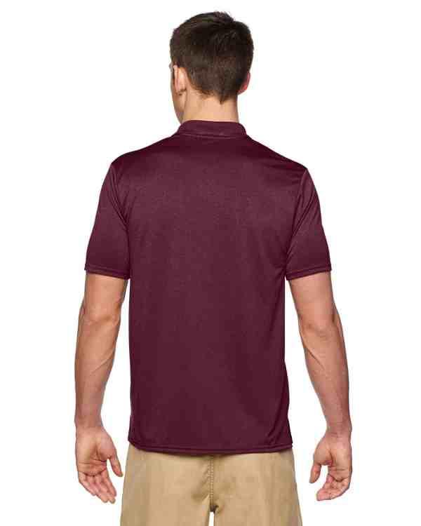 Gildan Adult Performance® 4.7 oz. Jersey Polo Shirt Marble Maroon Back