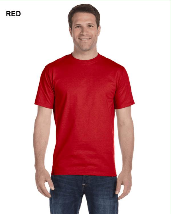 Gildan Adult 5.5 oz., 50/50 T-Shirt Red