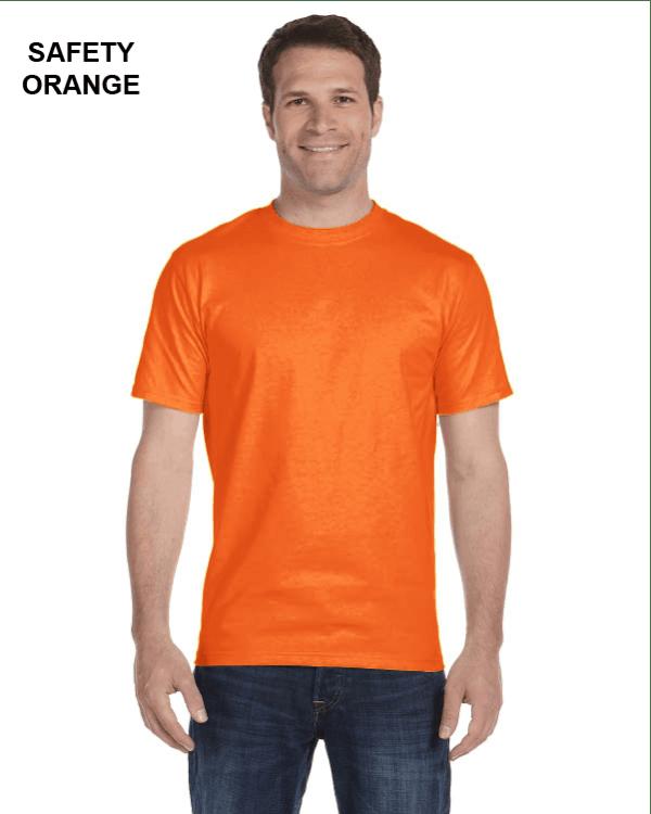 Gildan Adult 5.5 oz., 50/50 T-Shirt Safety Orange