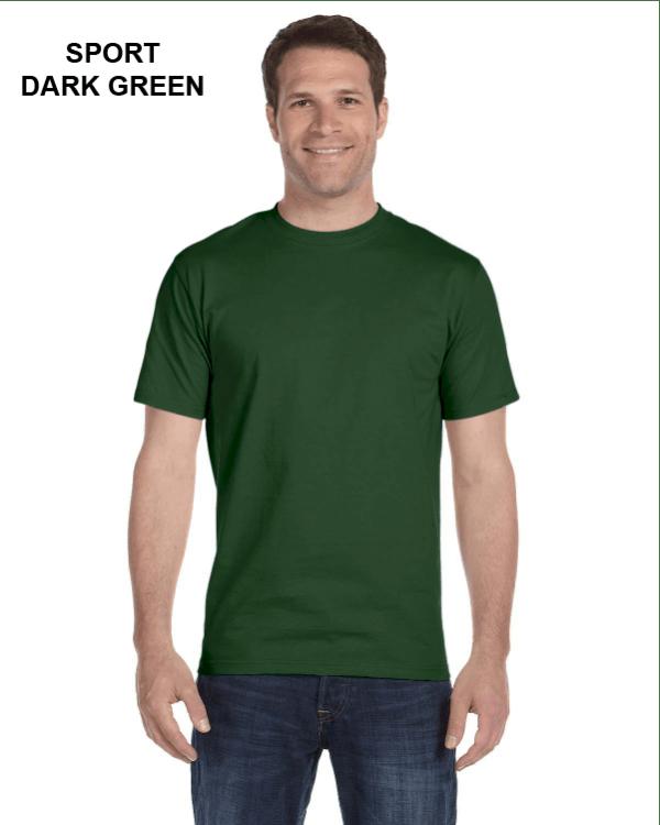 Gildan Adult 5.5 oz., 50/50 T-Shirt Sport Dark Green
