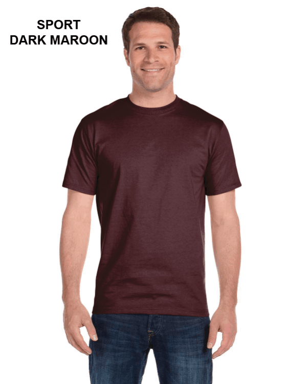 Gildan Adult 5.5 oz., 50/50 T-Shirt Sport Dark Maroon