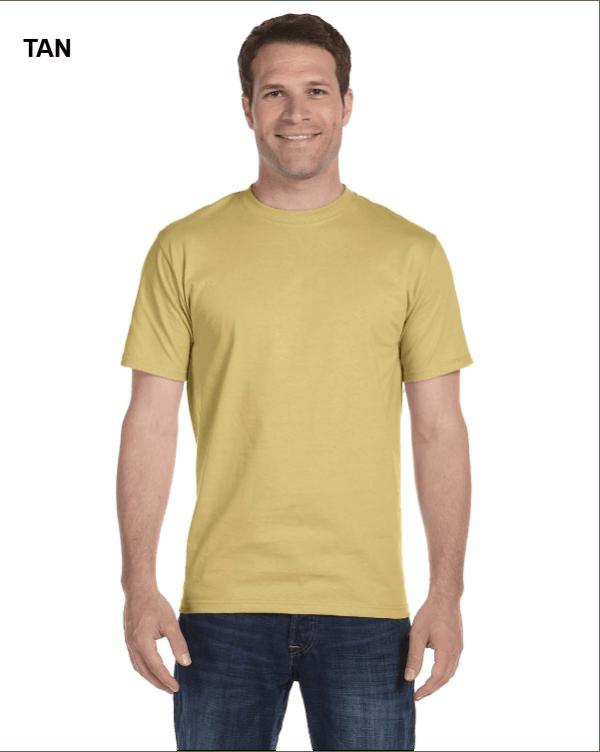 Gildan Adult 5.5 oz., 50/50 T-Shirt Tan