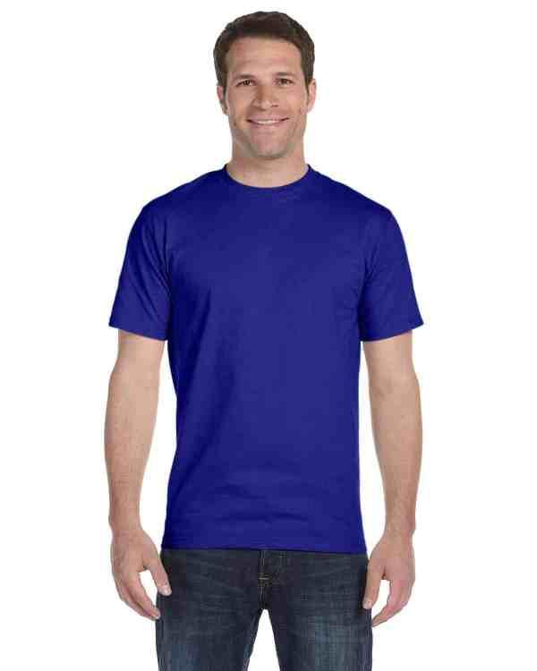 Gildan Adult 5.5 oz., 50/50 T-Shirt Sport Royal Front