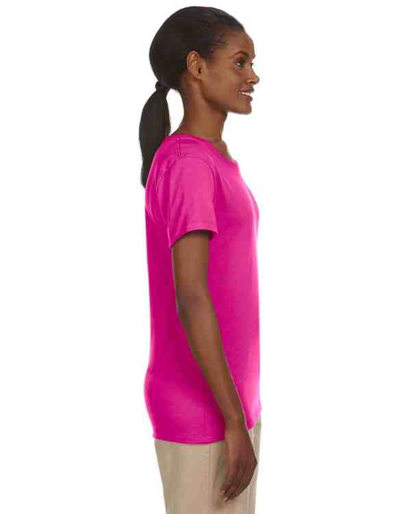 Jerzees Ladies 5.6 oz. DRI-POWER ACTIVE T-Shirt Cyber Pink Side