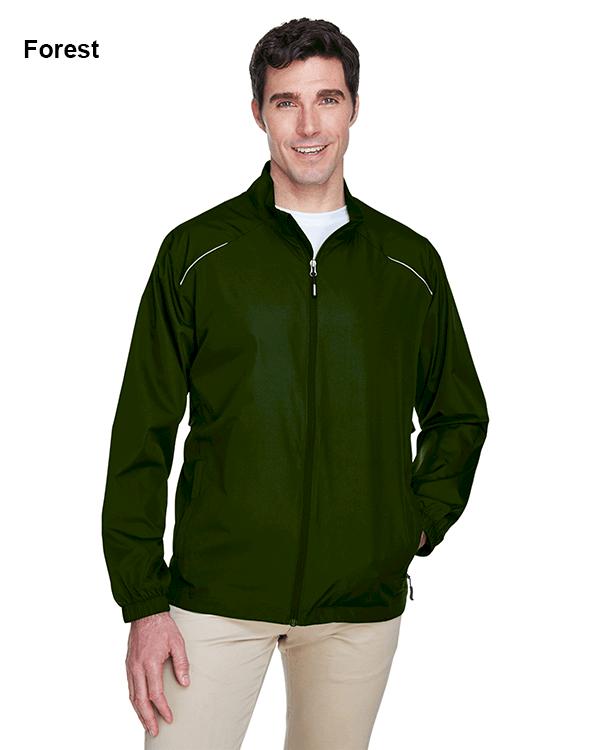 Core 365 Mens Motivate Unlined Lightweight Jacket Forest
