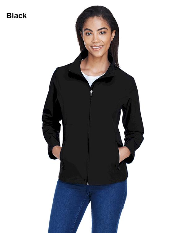 Team 365 Ladies Leader Soft Shell Jacket Black