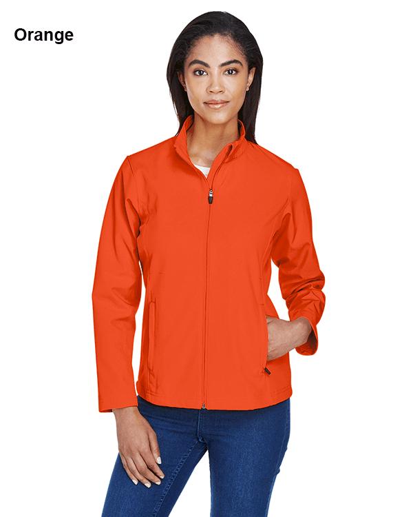Team 365 Ladies Leader Soft Shell Jacket Orange