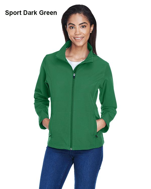 Team 365 Ladies Leader Soft Shell Jacket Sport Dark Green