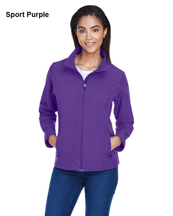Team 365 Ladies Leader Soft Shell Jacket Sport Purple