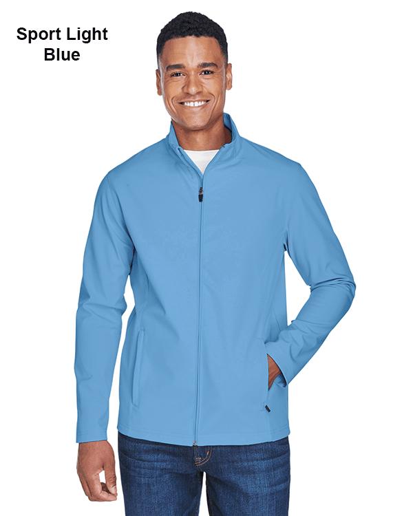 Team 365 Mens Leader Soft Shell Jacket Sport Light Blue
