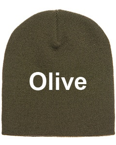 yupoong adult knit beanie olive