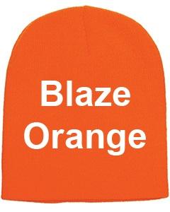 yupoong adult knit beanie blaze orange