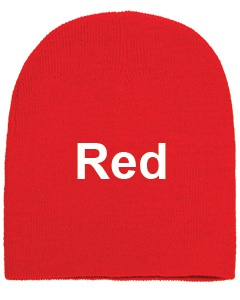 yupoong adult knit beanie red