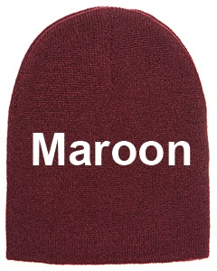 yupoong adult knit beanie maroon