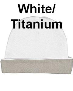Rabbit Skins Infant Baby Rib Cap White/Titanium