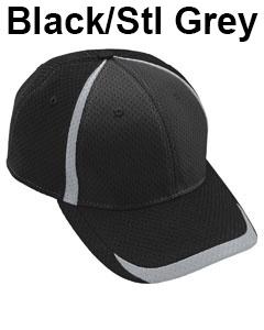 Augusta Drop Ship Adult Change Up Cap Black/Steel Grey