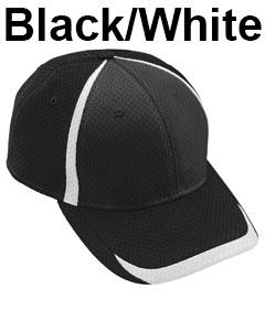 Augusta Drop Ship Adult Change Up Cap Black/White