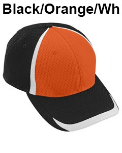 Augusta Drop Ship Adult Change Up Cap Black/Orange/White