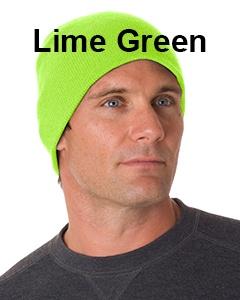 Bayside 100% Acrylic Beanie Lime Green