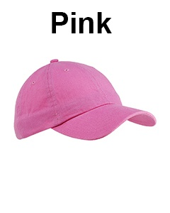 Big Accessories 6-Panel Brushed Twill Unstructured Cap Pink
