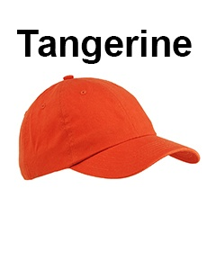 Big Accessories 6-Panel Brushed Twill Unstructured Cap Tangerine