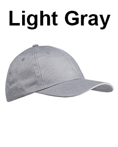 Big Accessories 6-Panel Brushed Twill Unstructured Cap Light Gray