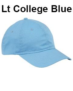Big Accessories 6-Panel Twill Unstructured Cap Lt College Blue