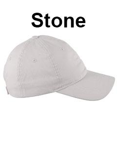 Big Accessories 6-Panel Twill Unstructured Cap Stone