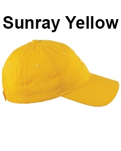 Big Accessories 6-Panel Twill Unstructured Cap Sunray Yellow