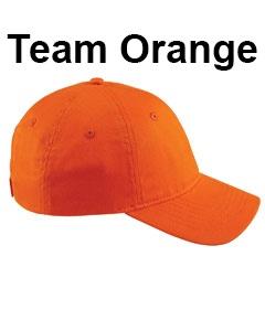 Big Accessories 6-Panel Twill Unstructured Cap Team Orange
