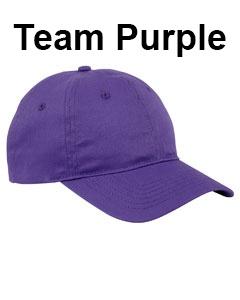 Big Accessories 6-Panel Twill Unstructured Cap Team Purple