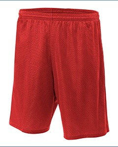 A4 Adult Nine Inch Inseam Mesh Short - MCN5296
