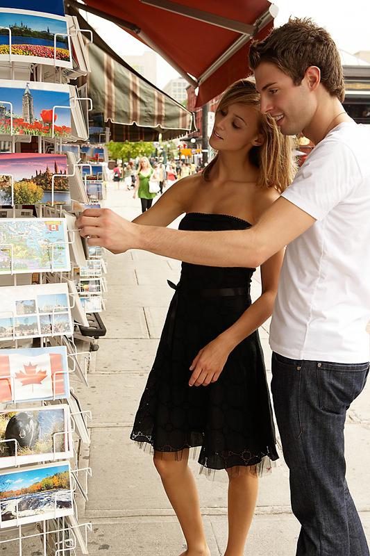 Konsumenen beim Browsing (Stöbern)
