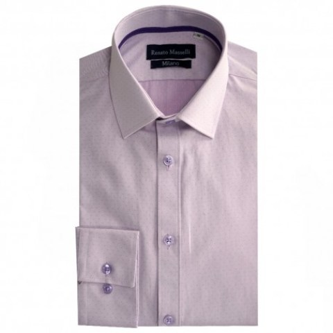 Camisa Formal Esencial Slim Fit morada