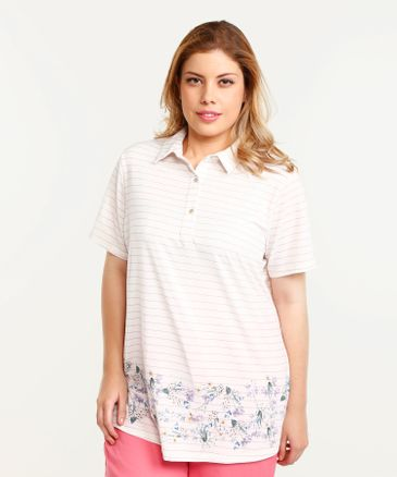 Polo Estampada Lila 14