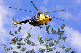 Image result for helicopter money images