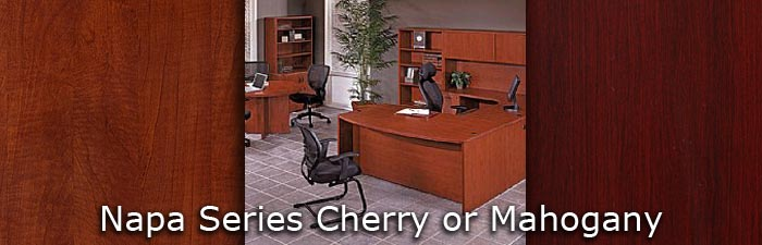napa series cherry or mahogany markets west office furniture phoenix az