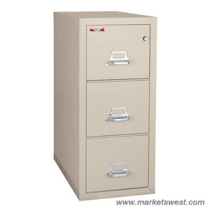 FireKing 3 Drawer Vertical Legal Fireproof File Cabinet