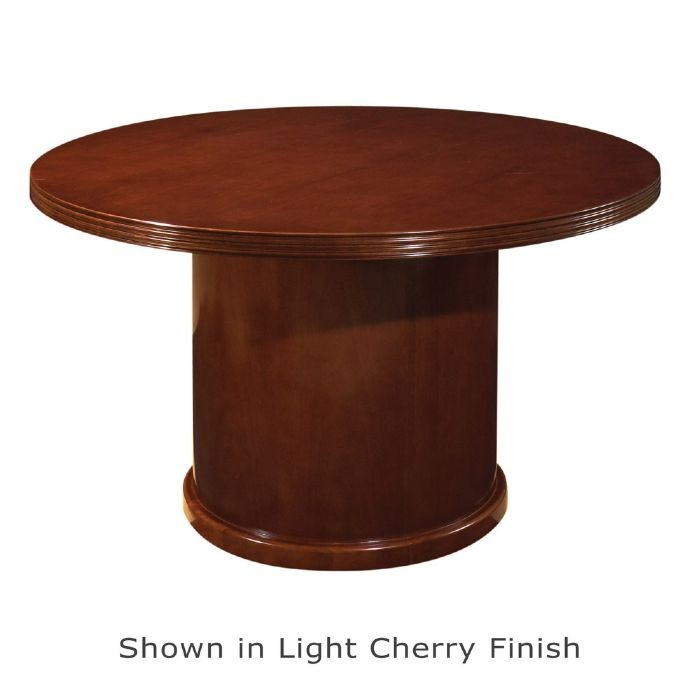 42 inch round conference table mahogany or light cherry