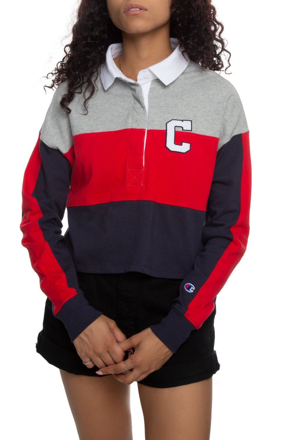 Rugby Cropped Collared Tee