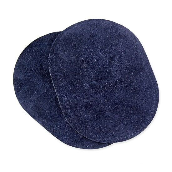 SUEDE COWHIDE ELBOW PATCH - NAVY