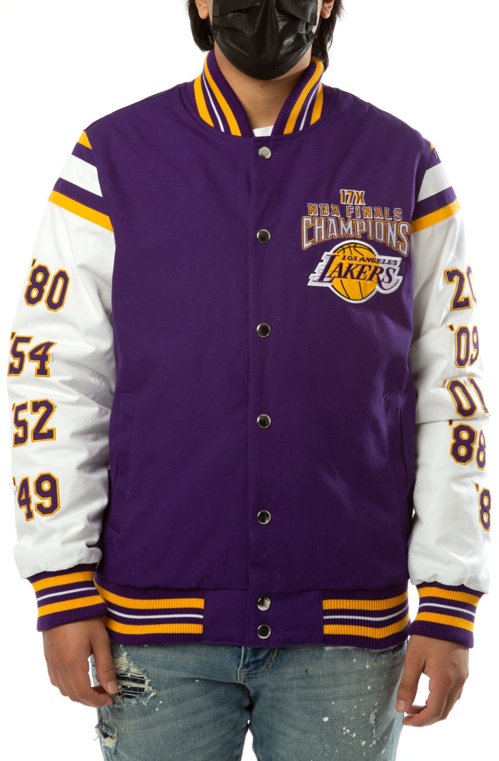 Los Angeles Lakers Canvas 17X Champions Jacket