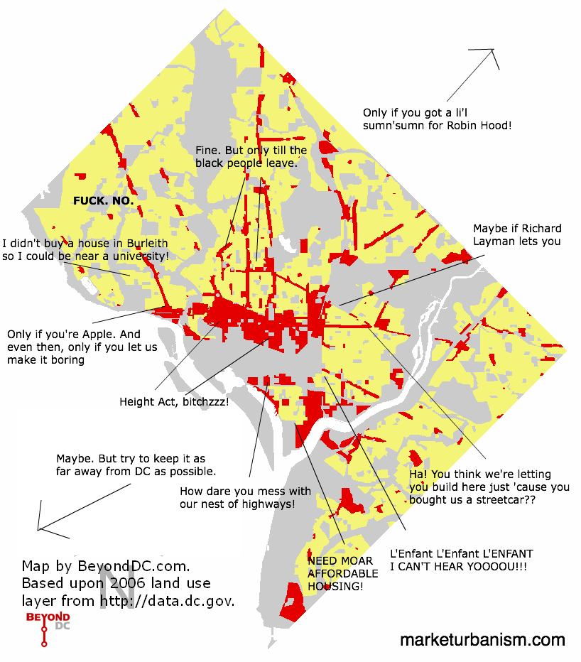 Annotated simplified DC land use map Market Urbanism