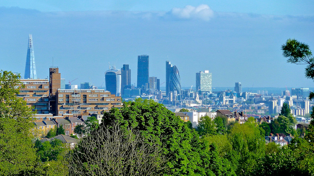 London Skyline via flickr user Luca Sbardella